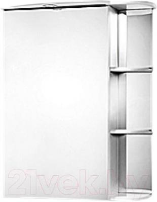 Шкаф с зеркалом для ванной Акваль Милана 65 (АМ.04.65.00.L) - общий вид