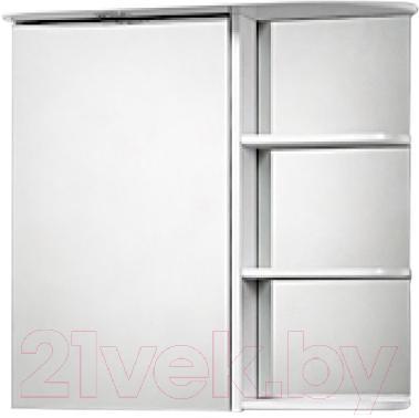 Шкаф с зеркалом для ванной Акваль Милана 70 (AM.04.71.00.L) - общий вид