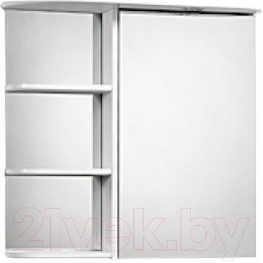 Шкаф с зеркалом для ванной Акваль Милана 70 (AM.04.71.00.R) - общий вид
