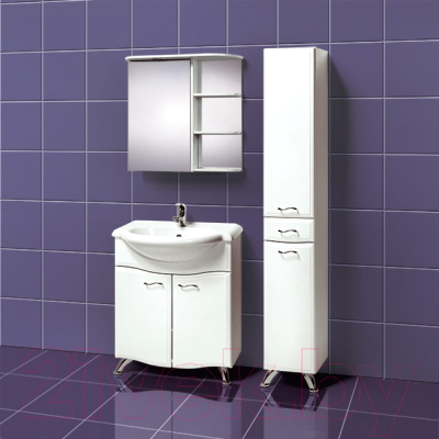 Шкаф с зеркалом для ванной Акваль Милана 70 (AM.04.71.00.R)