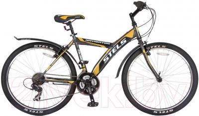 Велосипед Stels Navigator 530 V (26, серый, черный, оранжевый) - общий вид