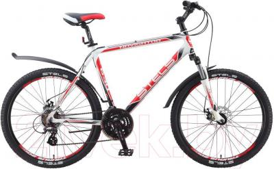 Велосипед Stels Navigator 630 MD (21.5, белый, черный, красный) - общий вид