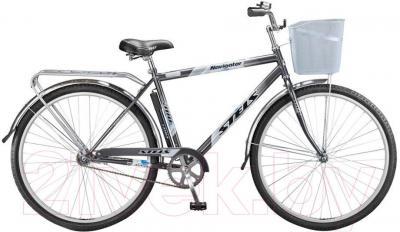 Велосипед Stels Navigator 310 Gent (28, темно-серый, серебро) - общий вид