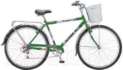 Велосипед Stels Navigator 350 Gent (28, темно-зеленый, серебро) - общий вид