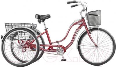 Велосипед Stels Energy II (26, бордовый, серебро) - общий вид