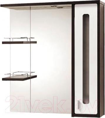 Шкаф с зеркалом для ванной Акваль Бали 75 (БАЛИ.04.75.02.R)