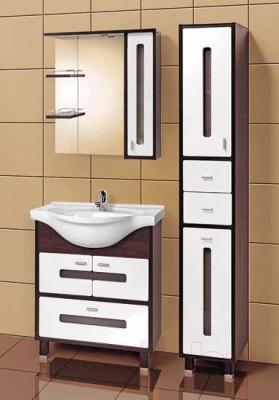 Шкаф с зеркалом для ванной Акваль Бали 75 (БАЛИ.04.75.02.R) - в интерьере