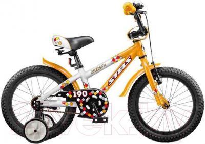 Детский велосипед Stels Pilot 190 (16, оранжево-белый) - общий вид