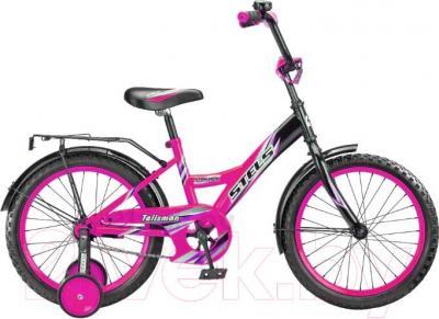 Детский велосипед Stels Talisman Black 18 (черно-розовый) - общий вид