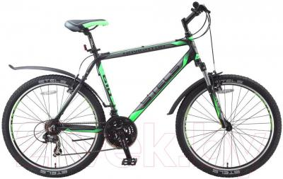 Велосипед Stels Navigator 610 V (21.5, черный, серый, зеленый) - общий вид