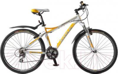 Велосипед Stels Miss 8500 V (26, белый, желтый, серебристый) - общий вид