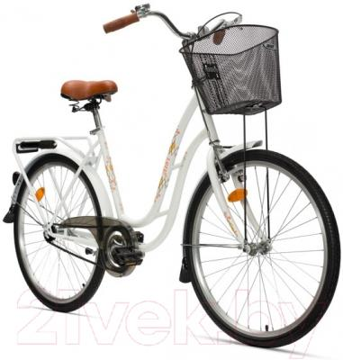 Велосипед Aist 26-210 (белый, с корзиной)