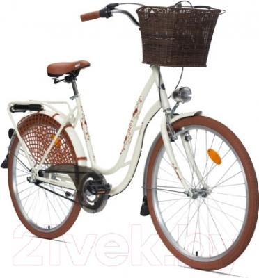 Велосипед Aist 26-211 (белый, с корзиной)