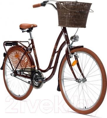 Велосипед Aist 26-211 (коричневый, с корзиной)