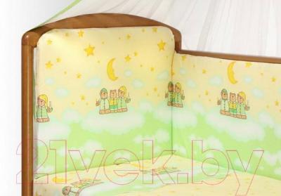 Комплект в кроватку Perina Аманда А4-02.1 (Ночка салатовый) - рисунок