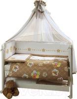 Комплект в кроватку Perina Тиффани 4-02.0 (Цветы) -