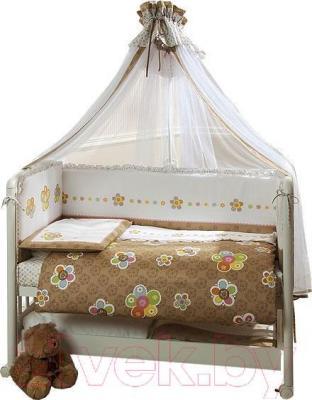 Комплект в кроватку Perina Тиффани 4-02.0 (Цветы) - балдахин в комплект не входит