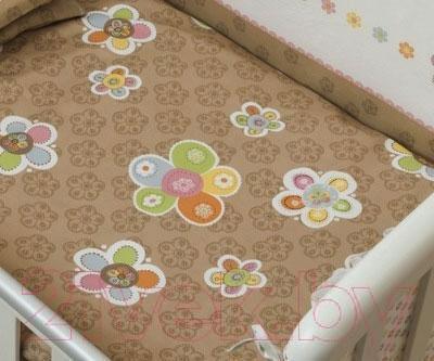 Комплект в кроватку Perina Тиффани 4-02.0 (Цветы) - рисунок