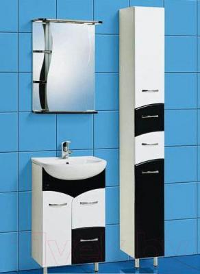 Шкаф с зеркалом для ванной Акваль Виктория 50 (ЕВ.04.50.00.R) - комплект в сборе