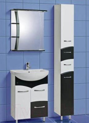 Шкаф с зеркалом для ванной Акваль Виктория 60 (ЕВ.04.60.00.R) - комплект в сборе
