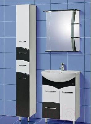 Шкаф с зеркалом для ванной Акваль Виктория 60 (ЕВ.04.60.00.L)