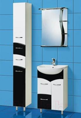 Шкаф с зеркалом для ванной Акваль Виктория 50 (ЕВ.04.50.00.L)