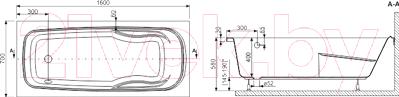 Ванна акриловая Sanplast WP/EKOPLUS 70x160