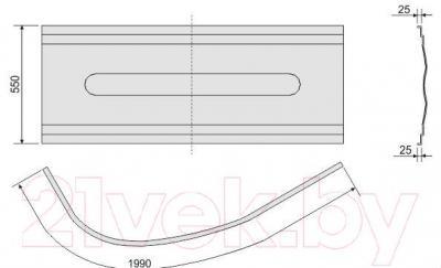Экран для ванны Sanplast OWAU/CO 100x140
