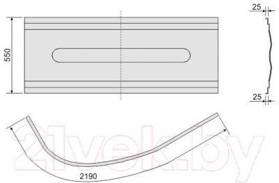 Экран для ванны Sanplast OWAU/CO 100x160