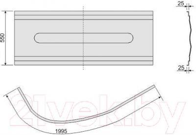 Экран для ванны Sanplast OWAU/CO 90x140