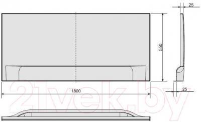 Экран для ванны Sanplast OWP/CLa 180