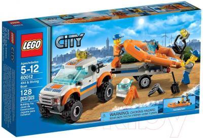 Конструктор Lego City Внедорожник и катер водолазов 60012 - упаковка