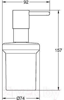 Дозатор жидкого мыла GROHE Essentials 40394000 - схема