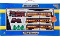 Железная дорога детская Fenfa Пассажирский паровоз (1601A-3BK) -