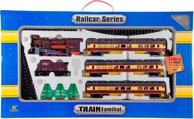 Железная дорога детская Fenfa Пассажирский паровоз (1601A-3BK)
