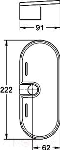 Полка для ванной GROHE New Tempesta 27596000 - технический чертеж