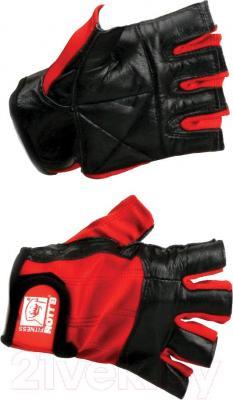 Перчатки для пауэрлифтинга Rotts 354-09533 (L, черно-красные) - общий вид