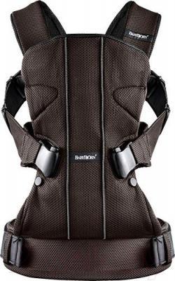 Эрго-рюкзак BabyBjorn One Cotton Mix 0910.30 (темный шоколад) - общий вид