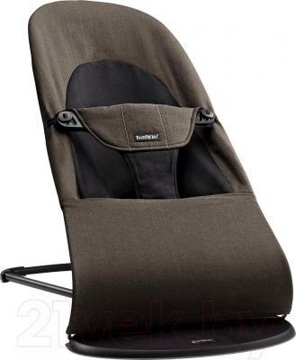 Детский шезлонг BabyBjorn Balance Soft Organic (черно-коричневый) - общий вид