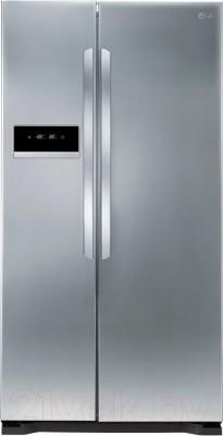 Холодильник с морозильником LG GC-B207GMQV - вид спереди