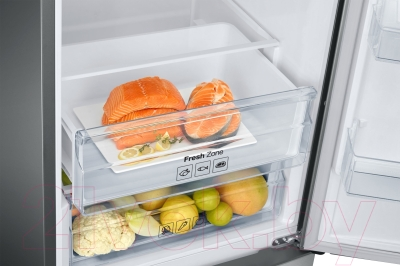 Холодильник с морозильником Samsung RB37J5200SA/WT