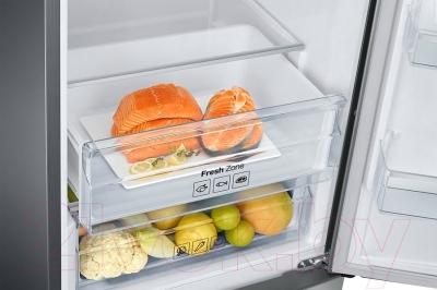 Холодильник с морозильником Samsung RB37J5240SS/WT