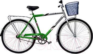 Велосипед Eurobike Voyager (28, зеленый с серебристым) - общий вид