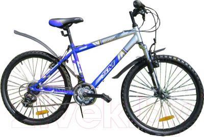 Велосипед Eurobike Cross (24, синий) - общий вид