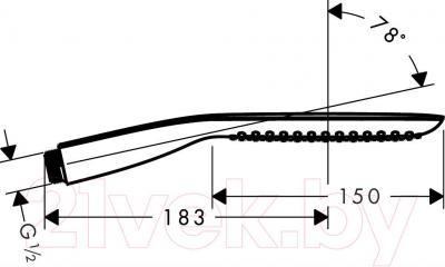 Душевой гарнитур Hansgrohe PuraVida 28558400 - габаритные размеры