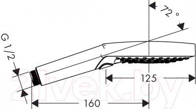 Душевая лейка Hansgrohe Raindance Select S 120 26530400 - габаритные размеры
