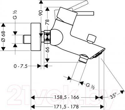Смеситель Hansgrohe Talis 32440000 - технический чертеж