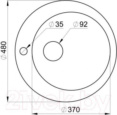 Мойка кухонная Granula GR-4801 (шоколад) - схема