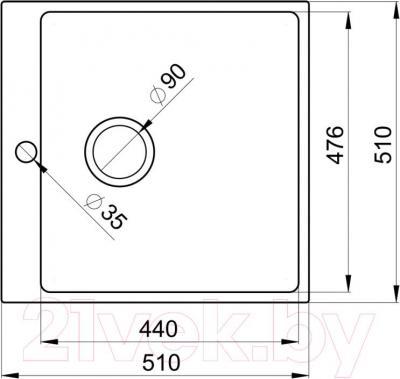 Мойка кухонная Granula GR-5102 (арктик) - схема
