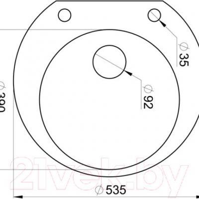 Мойка кухонная Granula GR-5301 (базальт) - схема
